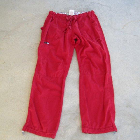 Koi 701 Lindsey Red Scrub Pants, M